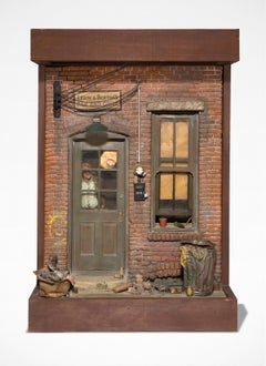"""""""Leroy & Bertha's Bar and Grill"""" Mixed Media, Story-Telling Sculpture"""