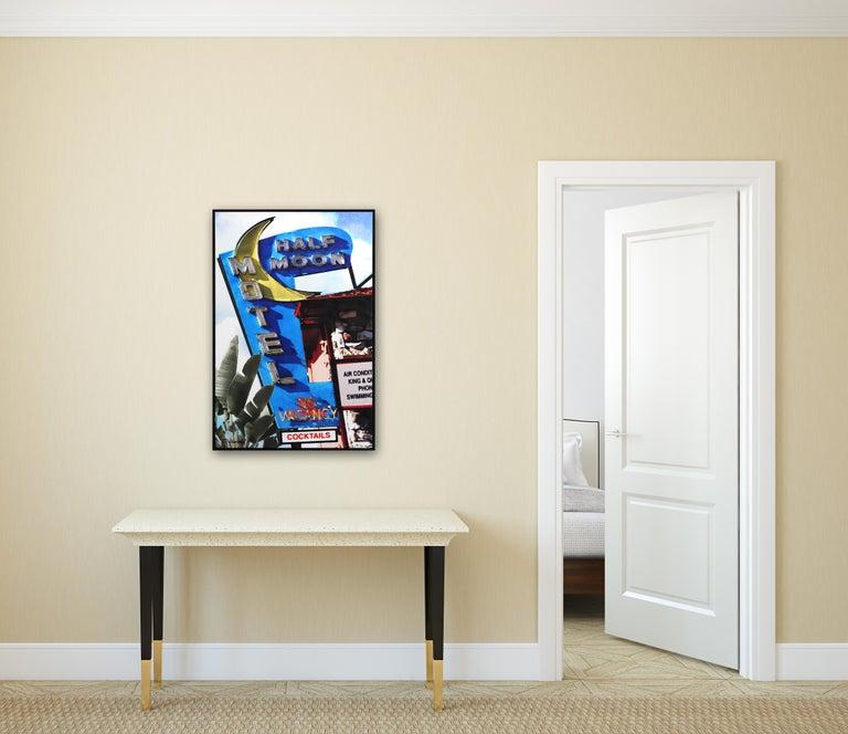 Half Moon Motel - Pop Art Mixed Media Art by Michael Giliberti
