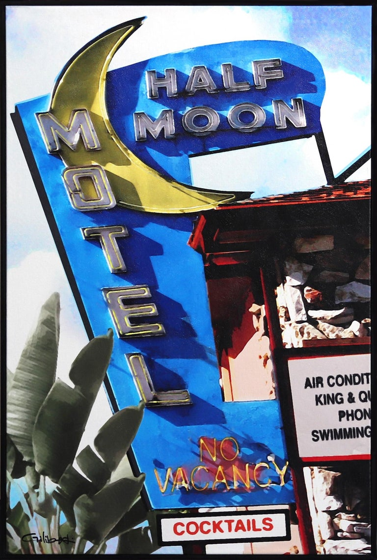 Half Moon Motel - Mixed Media Art by Michael Giliberti
