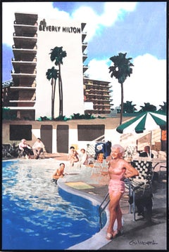 Poolside at the Beverly Hilton