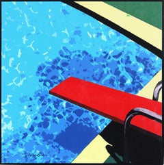 Red Diving Board