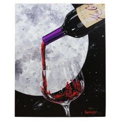 Michael Godard Lovers Moon II Signed Giclee on Canvas Gallery Proof Wine
