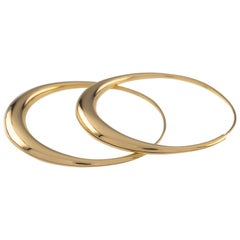 Michael Good Large 18 Karat Yellow Gold Hoop Earrings