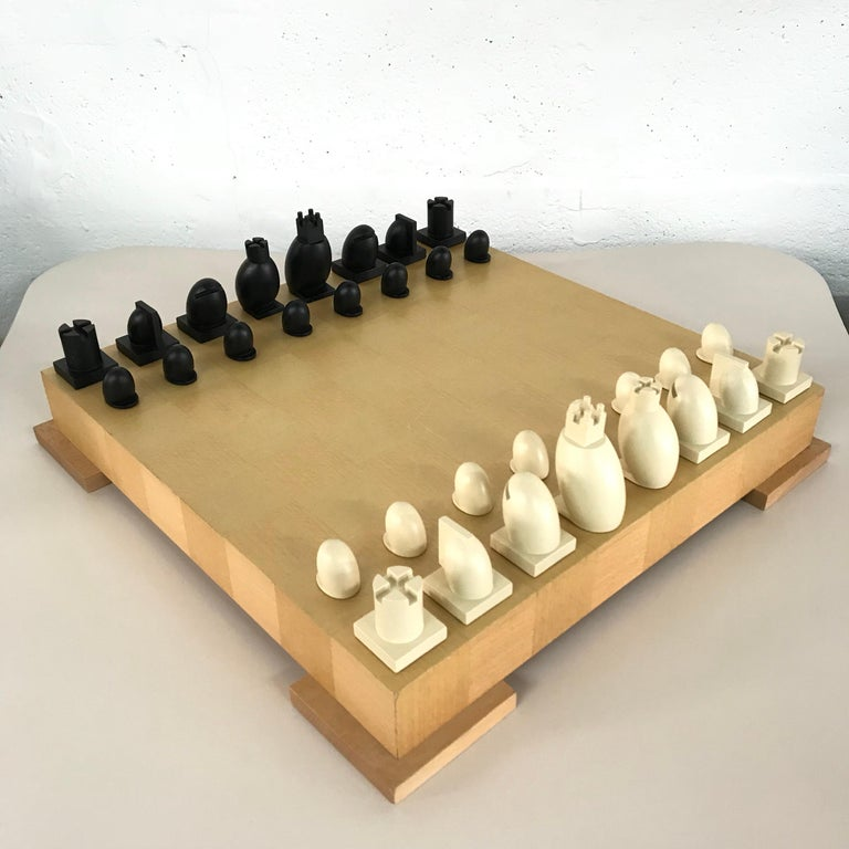 Post-Modern Michael Graves Postmodern Chess and Checkers Set, Signed For Sale