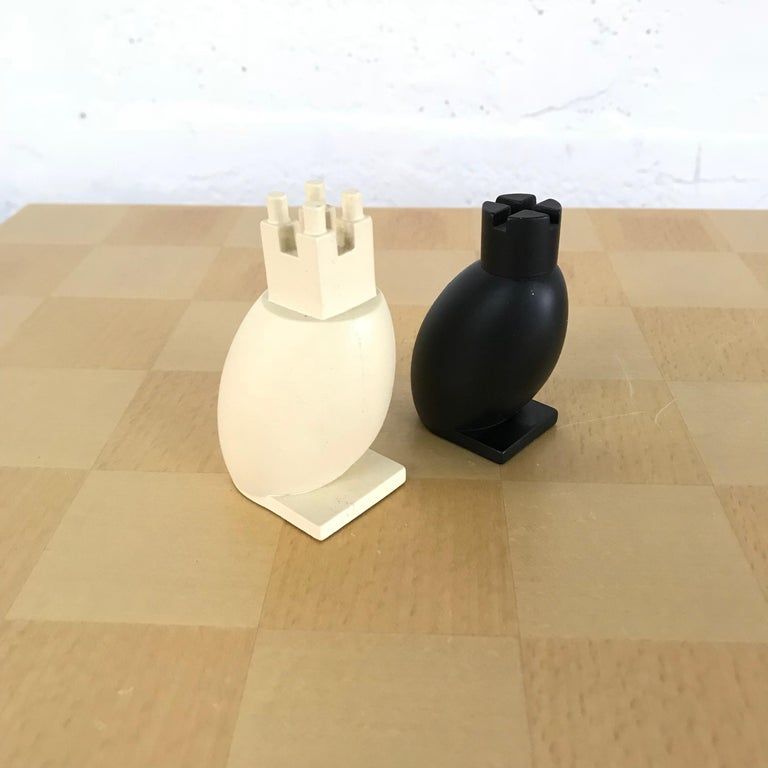 Velvet Michael Graves Postmodern Chess and Checkers Set, Signed For Sale