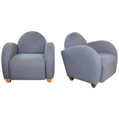 Michael Graves Postmodern Club or Lounge Chairs by David Edward Company 31 Avail