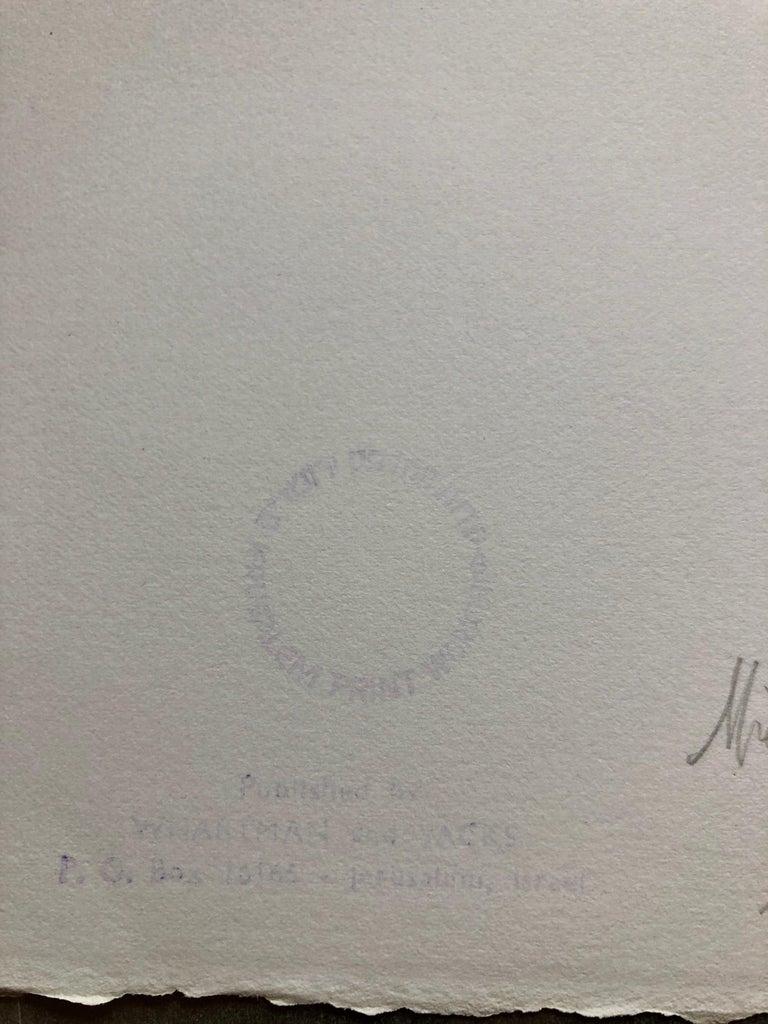 Michael Gross Israeli Minimalist Conceptual Art, Abstract Jerusalem Silkscreen  - Gray Abstract Print by Michael Gross