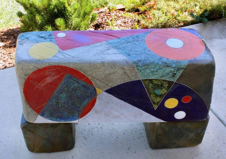 California sculptor Michael Gustavson's colorful