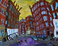 Dale Street Looking North, Manchester, Painting, Acrylic on Wood Panel