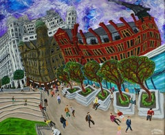 Great Northern Square, No. 8, Painting, Acrylic on Wood Panel