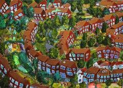Some Suburbia, Painting, Acrylic on Wood Panel