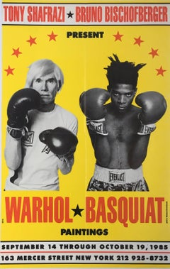 Warhol Basquiat Paintings Exhibit Poster (Warhol Basquiat boxing)