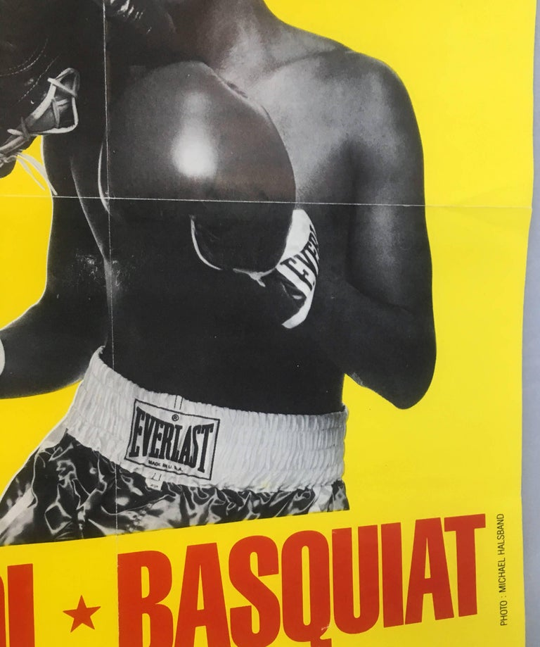 Warhol, Basquiat Boxing Poster (Shafrazi, The Palladium) For Sale 1