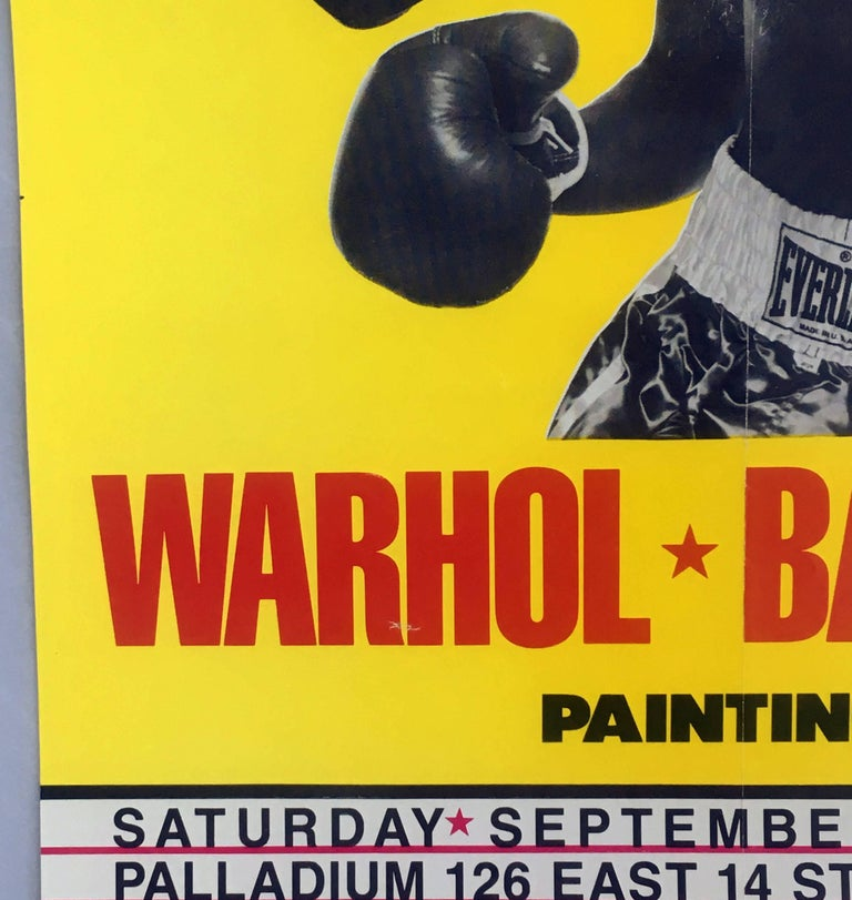 Warhol, Basquiat Boxing Poster (Shafrazi, The Palladium) For Sale 2