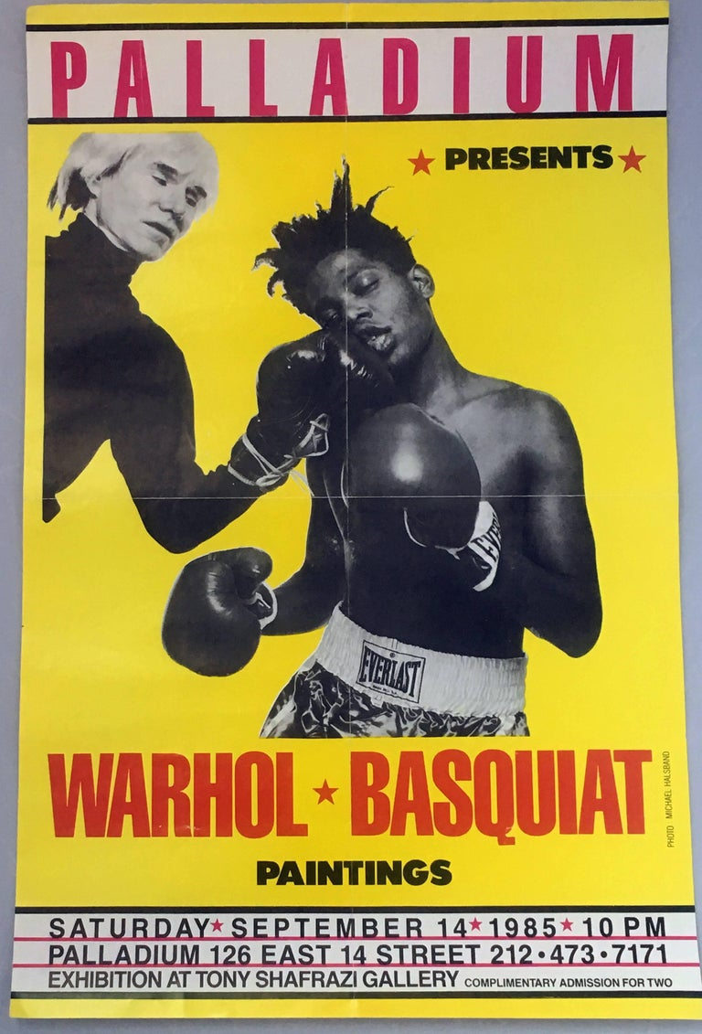 Warhol, Basquiat Boxing Poster (Shafrazi, The Palladium) - Pop Art Print by Michael Halsband