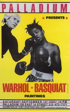 Warhol, Basquiat Boxing Poster (Shafrazi, The Palladium)