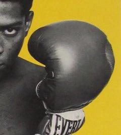 Warhol Basquiat Paintings Exhibit Poster (Warhol Basquiat boxing)