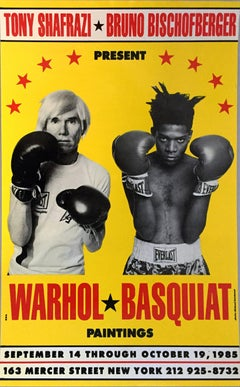 Warhol Basquiat Boxing Poster 1985 (Warhol Basquiat collaborations poster)