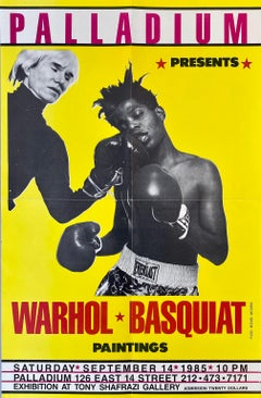 Warhol Basquiat Boxing Poster (Warhol Basquiat The Palladium)