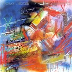"Michael Heizer-45, 90, 180 Geometric-46"" x 46""-Poster-1987-Contemporary"