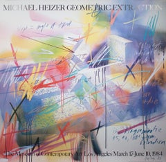 """Michael Heizer-Geometric Extraction-46"""" x 46""""-Poster-1984-Contemporary"""