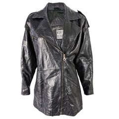 Michael Hoban North Beach Leather Womens Biker Jacket, 1980s