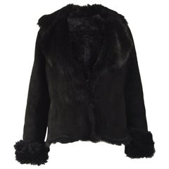 Michael Hoban Vintage Black Toscana Shearling Coat