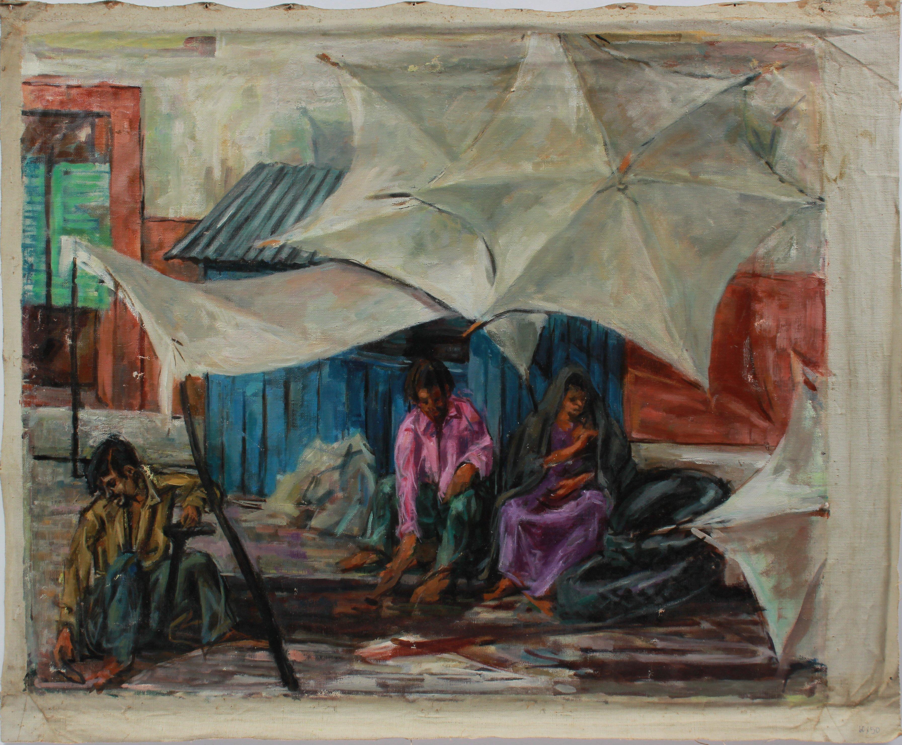 Scene of San Miguel de Allende, Mexico 1960s Oil