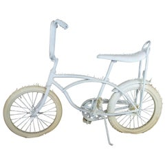 Michael Joaquin Grey White Latex Drip Bicycle Art Sculpture Exhibit Display