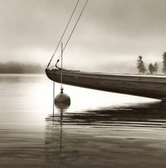 The Bow of the Idem by Michael Kahn. Black and white nautical photograph.