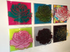 Six Roses - Wall sculpture
