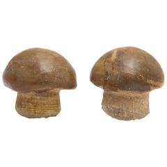 Michael Kanners Carved Stone Mushroom Cufflinks