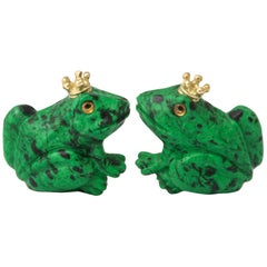 Michael Kanners Crowned Frog Cufflinks