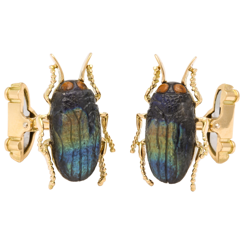 Michael Kanners Jewel Beetle Cufflinks