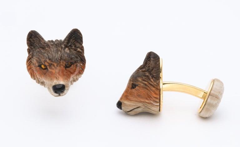 Michael Kanners Wolf Cufflinks For Sale 1