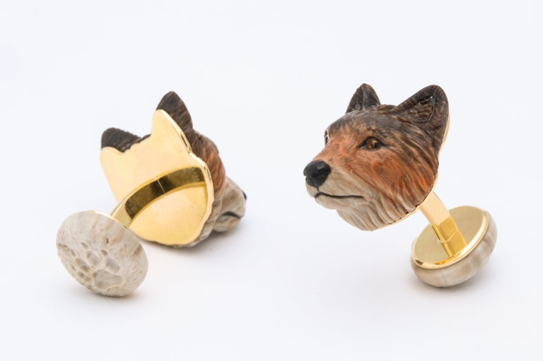Michael Kanners Wolf Cufflinks For Sale 2