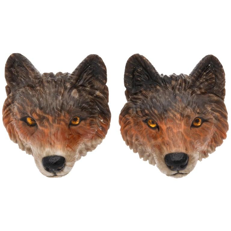 Michael Kanners Wolf Cufflinks For Sale