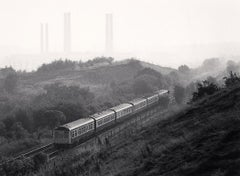 Diesel Train and Kearsley Power Station, Prestolee, Greater Manchester