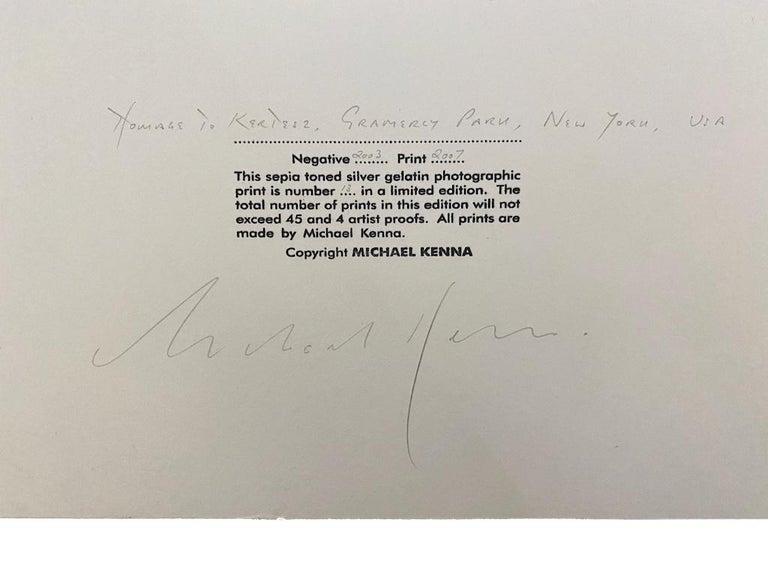 Homage to Kertesz, Gramercy Park, New York For Sale 1