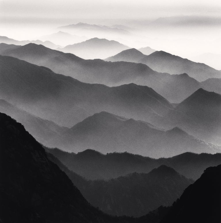 Michael Kenna Black and White Photograph - Huangshan Mountains, Study 42, Anhui, China: 21st Century, Landscape Photography