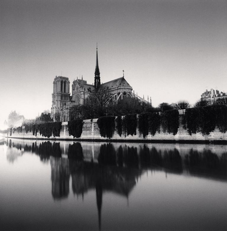 Michael Kenna Landscape Photograph - Notre Dame, Study 3, Paris, France