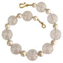 Michael Kneebone Baroque Pearl Blown Glass Effervescent Necklace