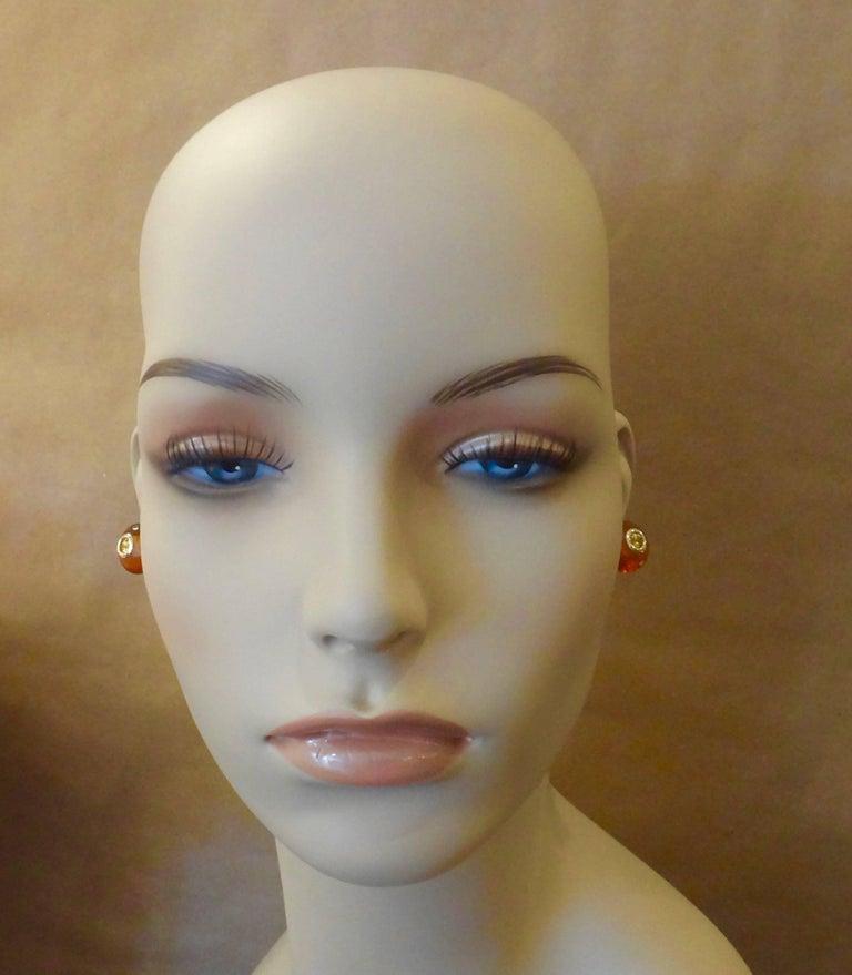 Women's Michael Kneebone Citrine Rondelle Yellow Sapphire 18k Gold Stud Earrings For Sale