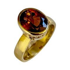 Michael Kneebone Dravite Tourmaline 18k Yellow Gold Leah Ring