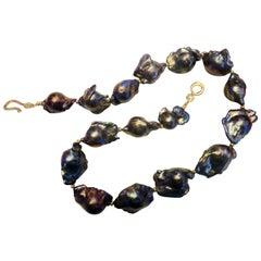 Michael Kneebone Gray Baroque Cultured Pearl Necklace