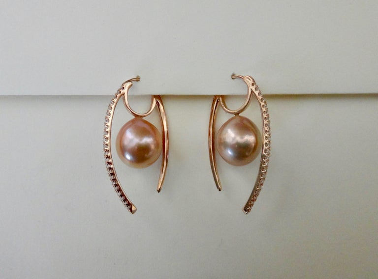 Contemporary Michael Kneebone Kasumi Pearl Diamond Rose Gold