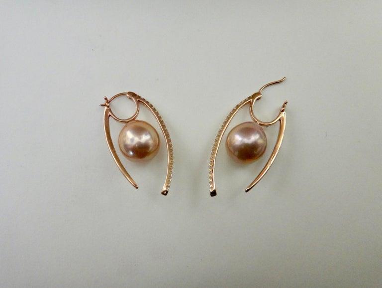 Michael Kneebone Kasumi Pearl Diamond Rose Gold