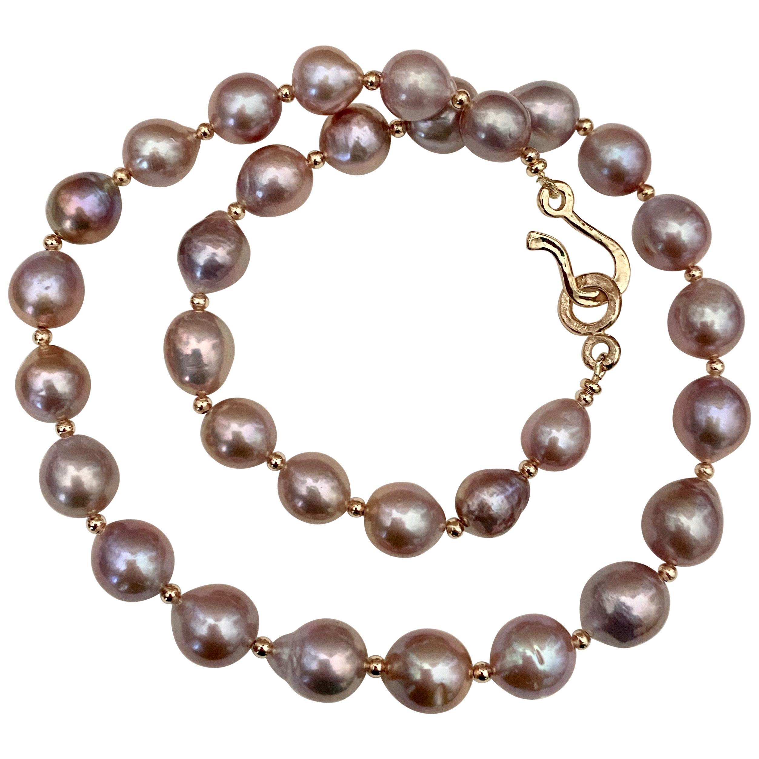 Michael Kneebone Lavender Baroque Pearl Necklace
