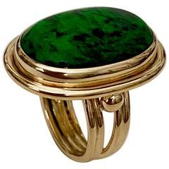 Michael Kneebone Maw Sit Sit Jade Archaic Style Ring