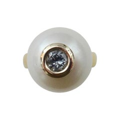 Michael Kneebone Paspaley South Seas Pearl Gray Spinel Leah Ring